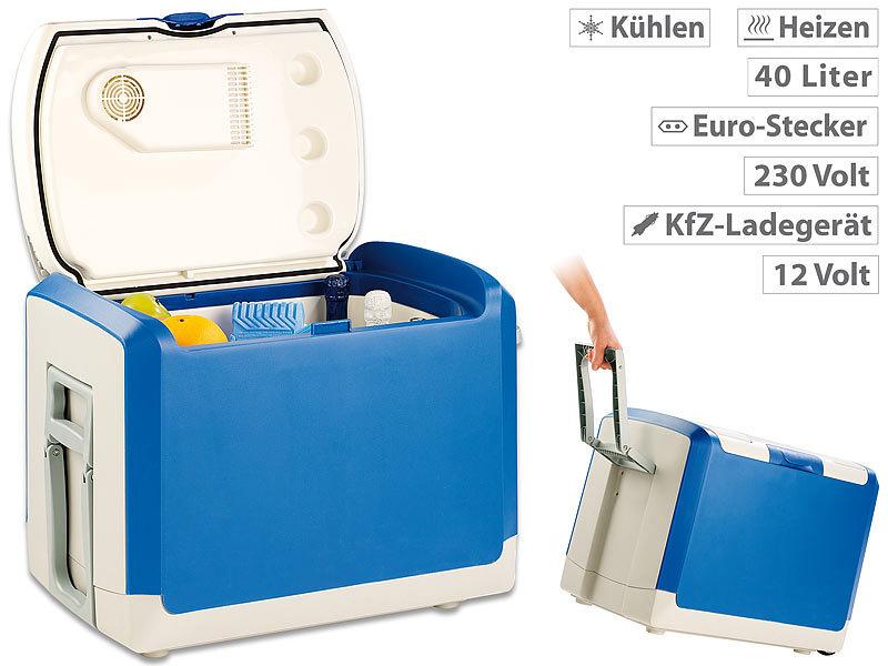 Auto Kühlschrank Solar : Xcase thermoelektrische kühlbox und wärmebox 12 v 230 v 40 l