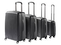 Xcase 4-teiliges Koffer-Set in Schwarz (refurbished)