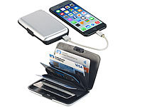 Xcase 2in1-RFID-Kartenetui & Powerbank, 5 Fächer, 2.500 mAh, 1 A, 5 Watt